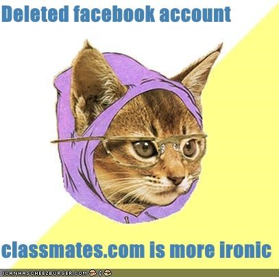 classmates,com,facebook,Hipster Kitty