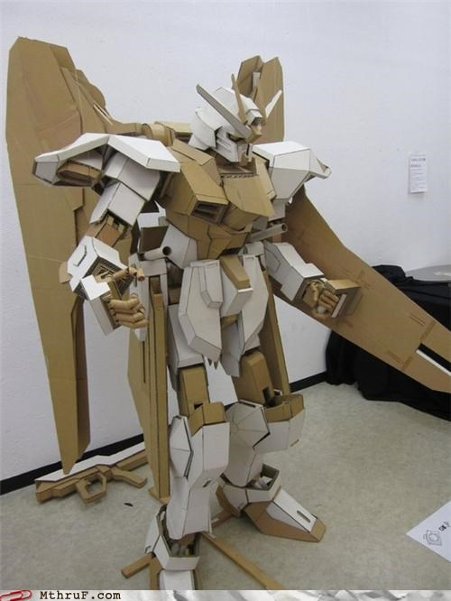 anime awesome cardboard creativity FTW gundam - 4293216768