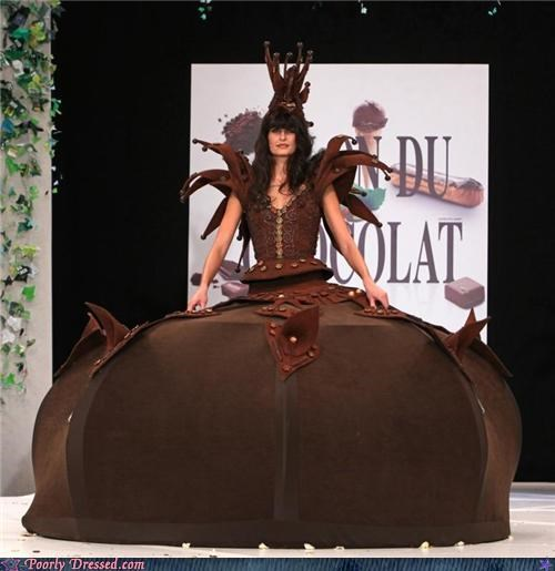 brown chocolate dress model wtf