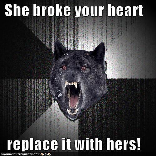 broken heart Insanity Wolf organ donor - 4293735936