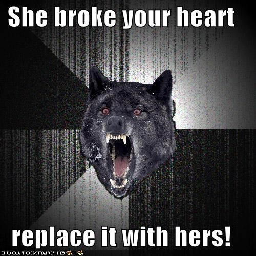 broken heart Insanity Wolf organ donor - 4293735936
