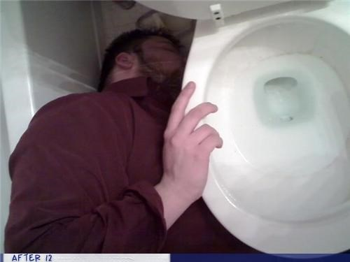 bathroom,missed,passed out,toilet