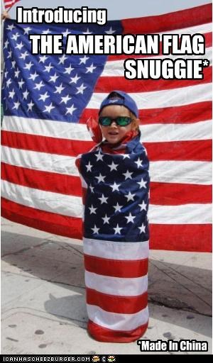 Introducing *Made In China THE AMERICAN FLAG SNUGGIE*