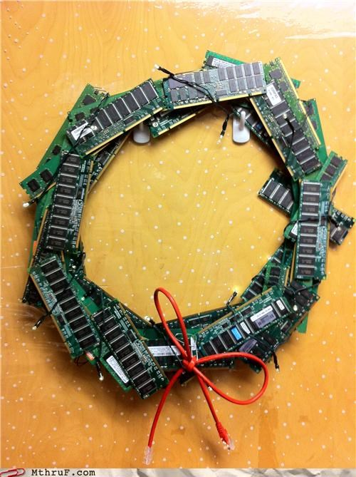 awesome christmas ethernet ram wreath - 4293808640