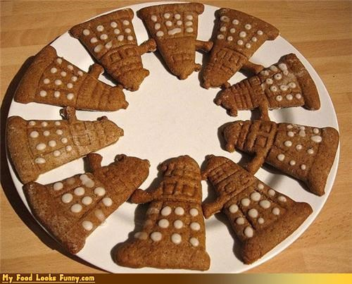 cookies dalek doctor who robots - 4294312960