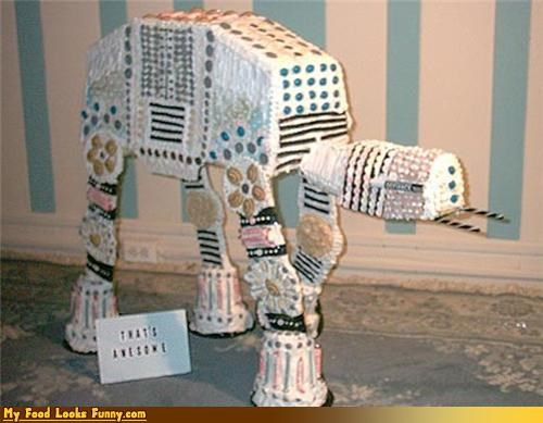 at-at walker,decorated,gingerbread,star wars