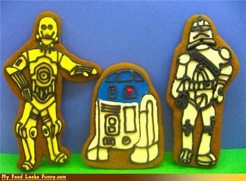 c3p0,cookies,droids,gingerbread,r2d2,star wars