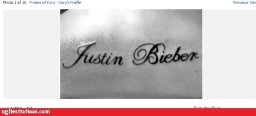 tattoos,names,justin bieber