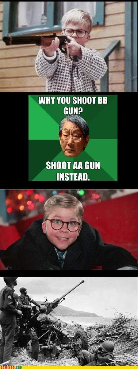 A Christmas Story From the Movies grades guns High Expectations Asian Father jk kids school the internets