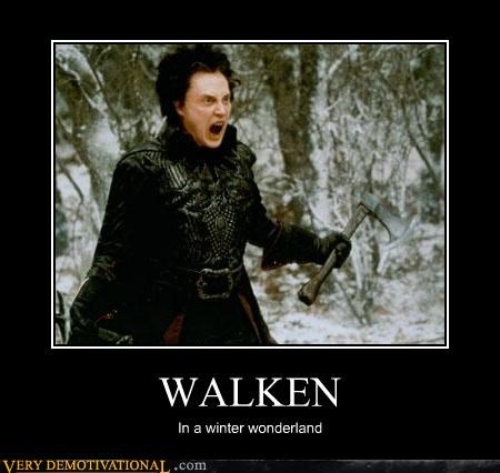 axe christopher walken puns snow teeth winter - 4295455232