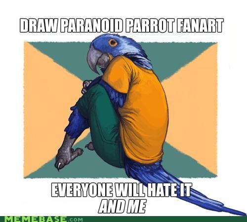 deviantart Fan Art Paranoid Parrot - 4295579904