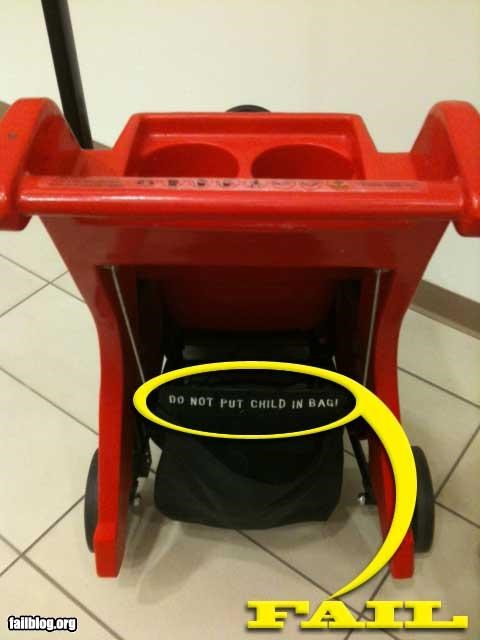 baby bag cart danger failboat oddly specific shopping - 4295878656