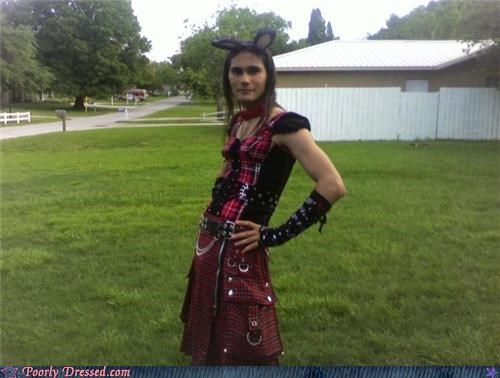 bunny,crossdressing,dress,goth,hot topic,kilt,wtf