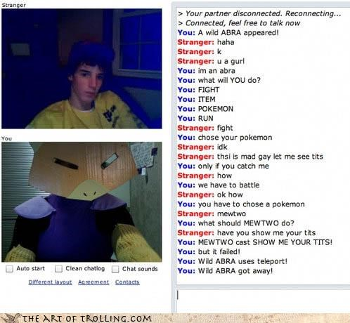 abra,Chat Roulette,Omegle,Pokémon,tatas,whatever