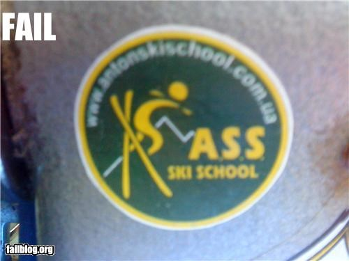 acronym bad idea failboat poor planning skiing sticker - 4296844544