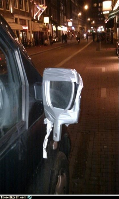 car duct tape mirror side view - 4297232640