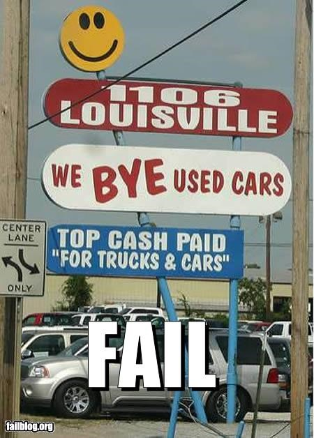 ads billboard buy bye failboat g rated sales spelling used cars