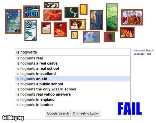 Autocomplete Me disease failboat google Harry Potter Hogwarts search STDs - 4297412096