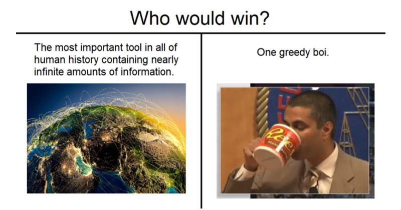 Funny memes about Ajit Pai.