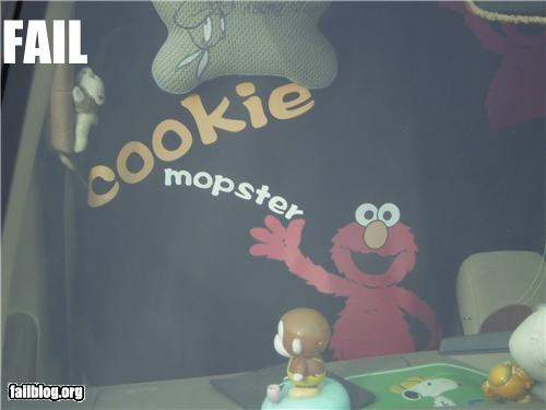Cookie Monster elmo failboat g rated mops Sesame Street spelling - 4297534720