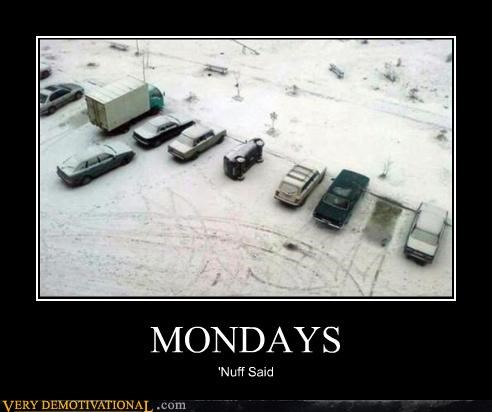 doh FAIL garfield hatred mondays parking snow - 4297598720