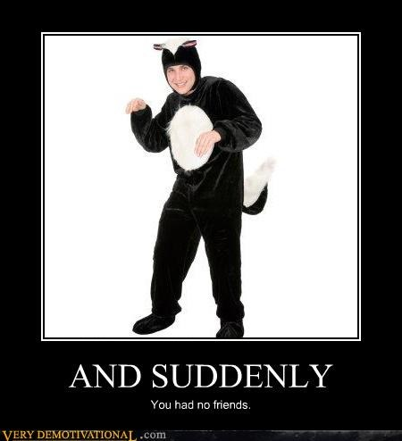costume forever alone friends suck lance bass no friends sad but true skunk - 4297773312
