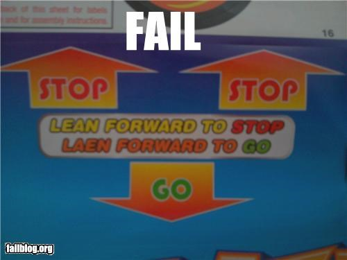 dont-do-it failboat forward instructions leaning poor planning