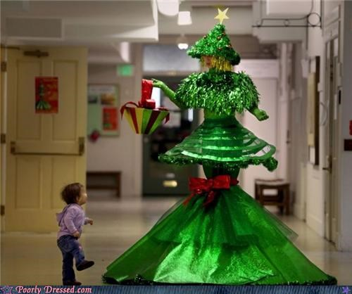 christmas costume kid modern art tree