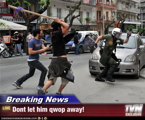 police protesters QWOP riot running stick violence - 4298593280