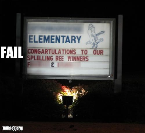 congratulations failboat g rated irony marquee spelling spelling bee
