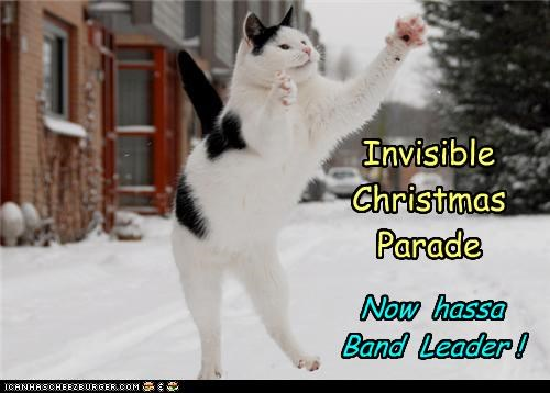Invisible Christmas Parade Now hassa Band Leader !