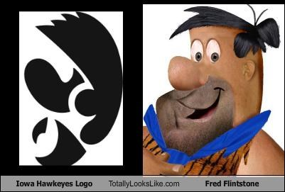 fred flinstone,iowa hawkeyes,logo,sports