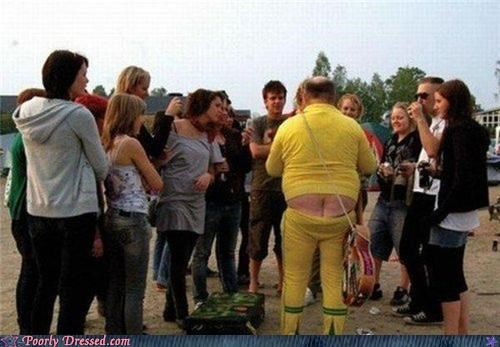 booty,jump suit,plumbers crack,wtf,yellow