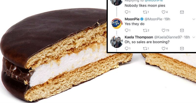 Girl gets in a ridiculously petty argument with Moonpie dessert company.