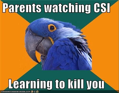 crime scene csi dna test evidence fingerprints Paranoid Parrot sneaky - 4299284736