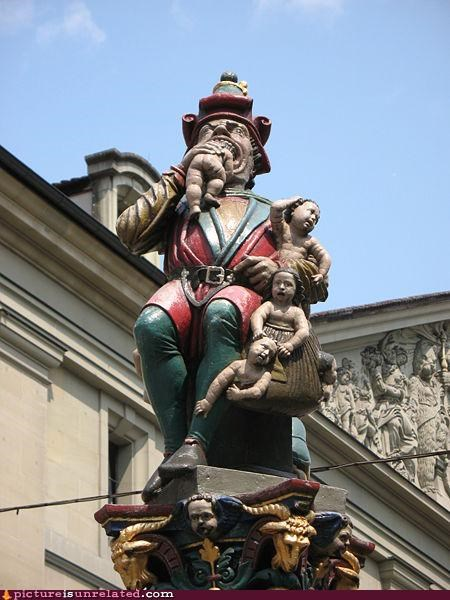 art cannibalism eating babies eating kids statues wtf - 4299358464