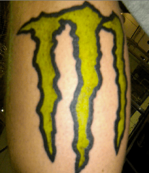 energy monster wtf tattoos - 4300009472