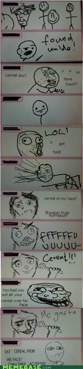 cereal guy Challenge Accepted lol me gusta Memes poker face snape - 4300277760