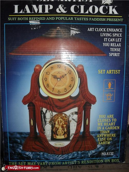 clock engrish lamp
