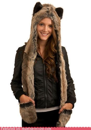 accessory contest hoodie howl to stay warm mittens modcloth scarf - 4300887040