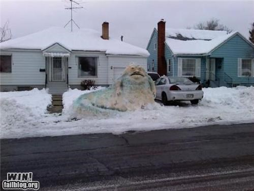jabba sculpture snow star wars - 4301035008