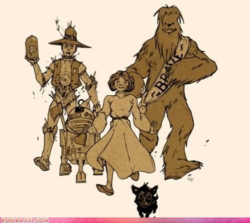 art illustration sci fi star wars wizard of oz - 4301140224