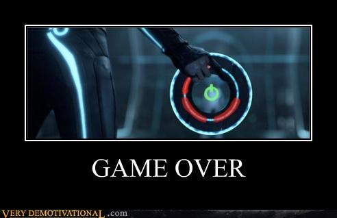 game over red ring of death tron video games x-box - 4301461504