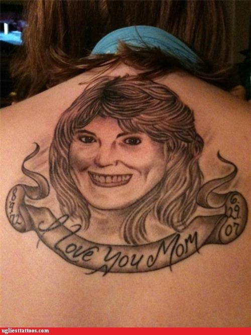 bad portraits tattoos mom - 4301586688