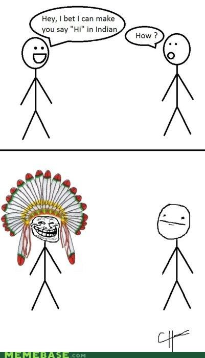 bad jokes,comics,how,indian,troll face
