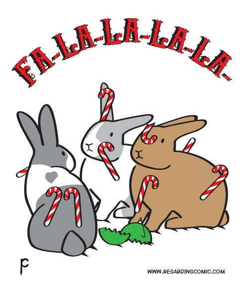 christmas holidays season rabbits web comics - 4301829