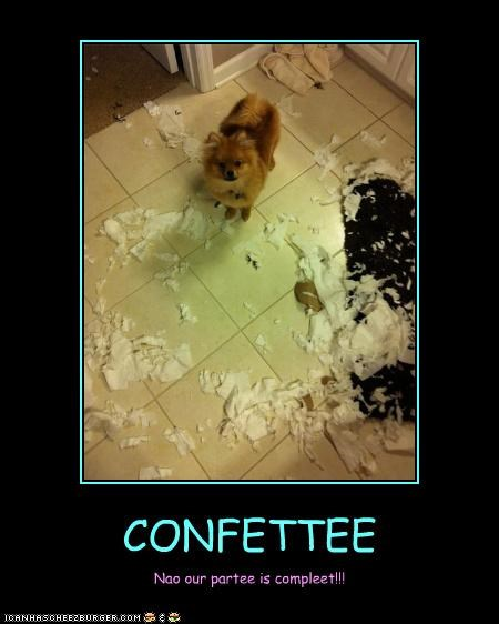 CONFETTEE Nao our partee is compleet!!!