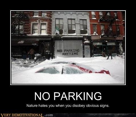 blizzard cars climate change global warming hatred nature parking signs - 4302358272