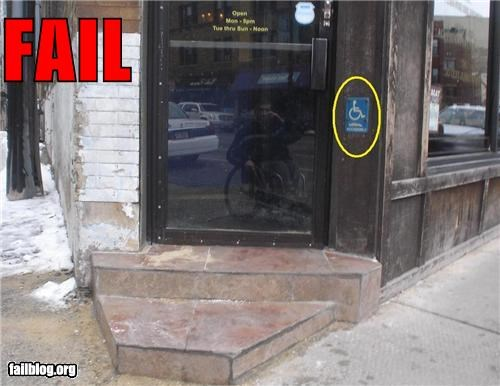 accessibility doors entrances failboat poor planning wheelchair - 4302515200