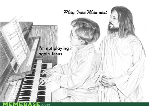 holy spirit,jesus,LOL Jesus,Music,organ,trolling